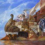 Traversée pour Cythère, Oil on canvass 130 x 162 cm
